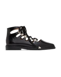 黑色系带牛津鞋