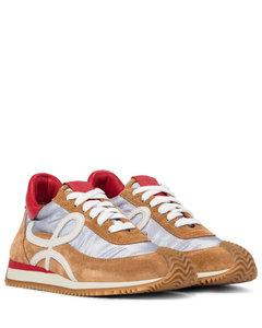 Flow绒面革和网布运动鞋