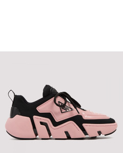 Segment black and pink sneakers