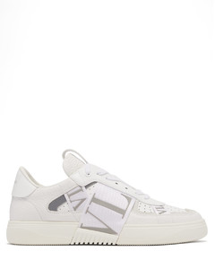 VL7N logo-embossed leather trainers