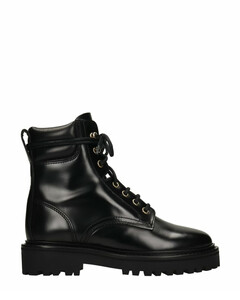 Campa Combat Boots In Black Leather