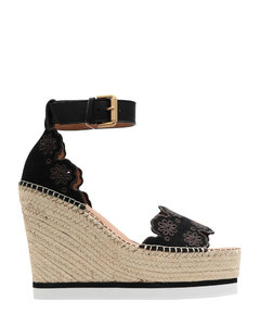 Crystal-Embellished Net Sandals 105