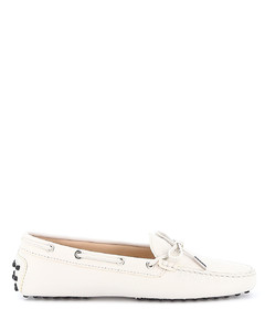 Hammered leather driving loafers