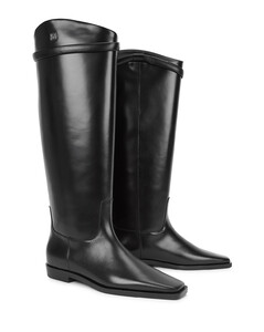 The Riding black leather knee-high boots