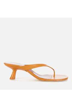 Women's Beep Leather Toe Post Kitten Heels - Camel