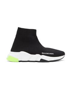 黑色Speed高帮运动鞋