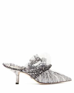 Antoinette polka-dot tulle & PVC mules