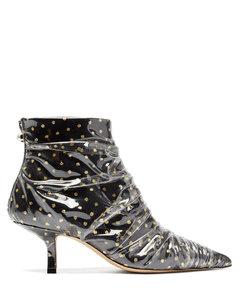 Antoinette polka-dot tulle & PVC ankle boots