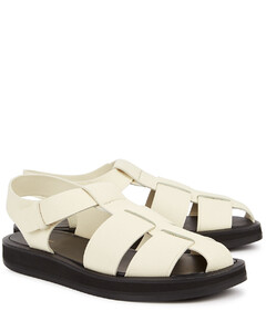 Fisherman ivory leather sandals