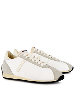70s Runner white suede-panelled sneakers