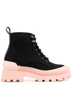 Western Ankle Boots In Brown Croc Embossed Leather