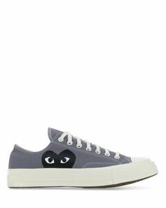 Dark grey canvas sneakers