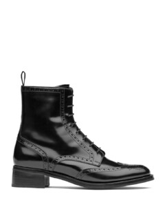 Polished FumèLace Up Boot Brogue