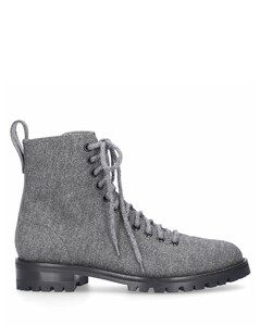 Ankle Boots Grey CRUZ FLAT Flanell