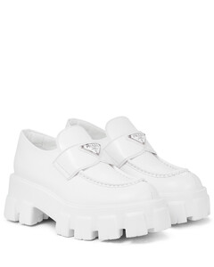 Monolith leather platform loafers