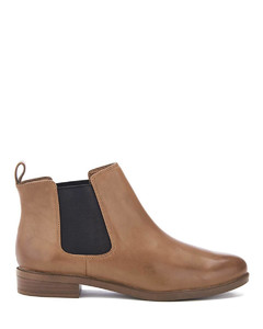 Women's Taylor Shine Leather Chelsea Boots - Tan