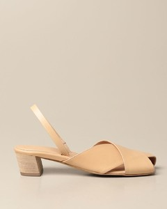 slingback in leather