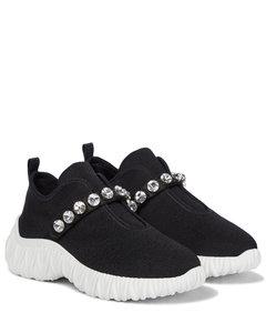 Embellished slip-on sneakers