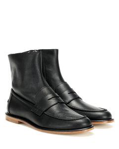 皮革乐福鞋式及踝靴