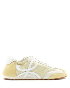 Ballet Runner nylon and suede trainers
