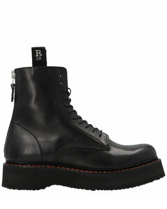 Single Stacked Combat Boots