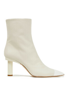 Woman Two-tone Leather Ankle Boots