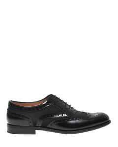 Burwood black leather shoes