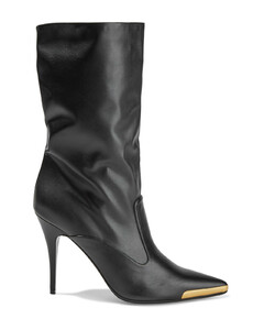 Woman Embellished Faux Leather Boots