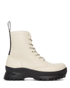 灰白色Trace踝靴
