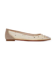 驼色Degra平底鞋