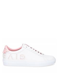 Low-Top Sneakers URBAN STREET calfskin Logo white rose