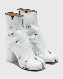 Tabi Painted Calfskin Ankle Boots