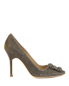 Hangisi Dark Gold Cotton Pumps