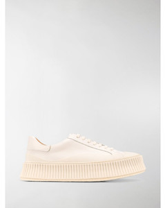 ribbed sole low-top trainers