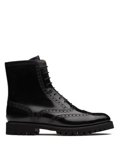 Polished Binder Lace Up Boot Brogue