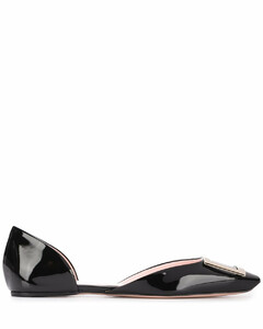 Dorsay patent leather ballet flats