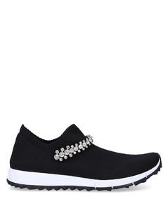Low-Top Sneakers VERONA textile Swarovski black