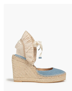 Morrissey 85 army green leather pumps