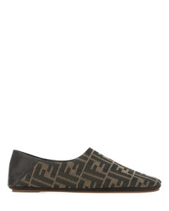 Embroidered nylon blend loafers