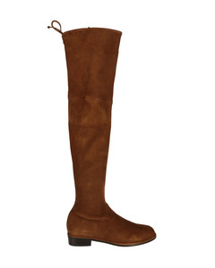 Lowland stretch suede over the knee boots