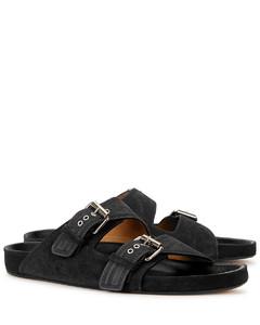 Lennyo black suede sandals