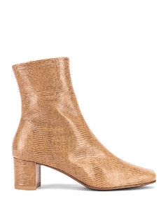 Sofia Lizard Embossed Boot in Neutral