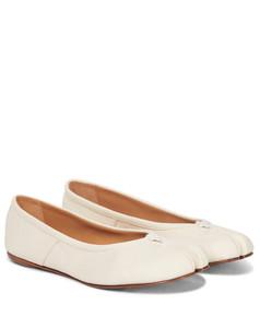 Tabi皮革芭蕾舞平底鞋