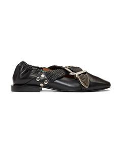 黑色搭扣芭蕾鞋