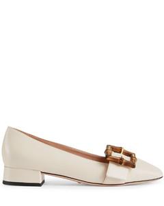 bamboo-buckle ballerina shoes
