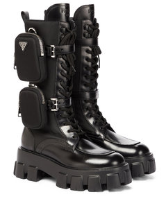 Monolith leather knee-high boots