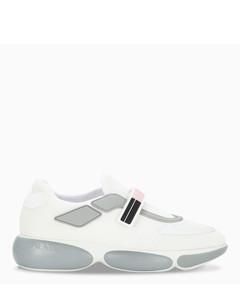 Women's white/grey/pink Cloudbust sneakers