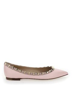 Garavani Rockstud Ballerina Flat Shoes