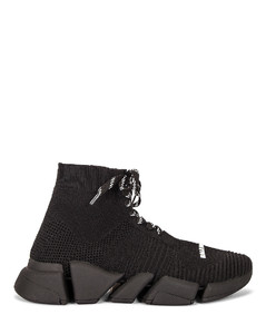Lace Up Speed 2.0 Sneakers in Black