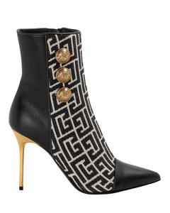 Ankle Boots THORA calfskin Logo beige